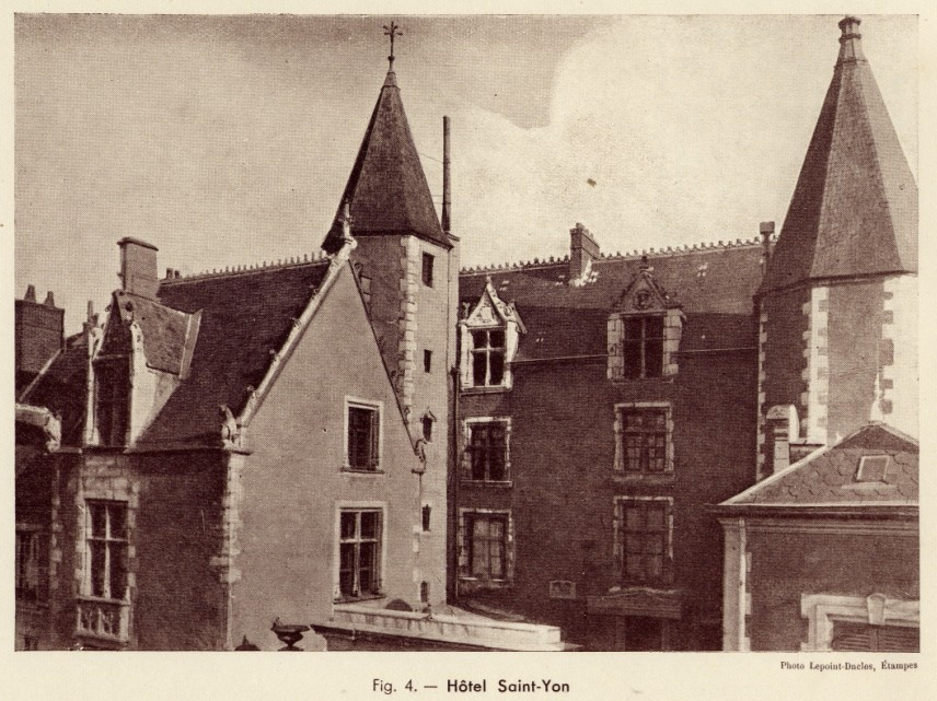 Fig. 4. Hôtel Saint-Yon. Photo Lepoint-Duclos, Etampes
