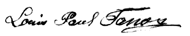 Signature de Paul Fanon en 1896