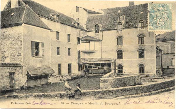 Le moulin du Bourgneuf (carte Marmuse n°18)