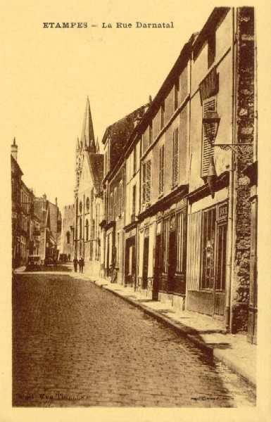 Collection Vve Thomas (Combier): La Rue Darnatal en jaune